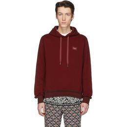 Dolce&Gabbana Red Branded Plate Hoodie G9PD4T G7VAS