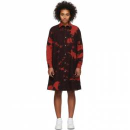MCQ by Alexander McQueen Red Tatsuko Tie-Dye Shirt Dress 580880ROD05