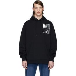 MCQ by Alexander McQueen Black Oversized Super Big Hoodie 565166ROT11