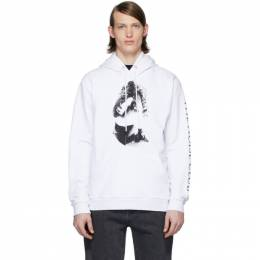 MCQ by Alexander McQueen White The Noise Club Hoodie 545412ROT45