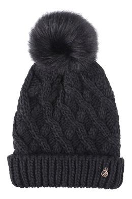 Черная шапка с помпоном Trussardi Jeans 3074174631