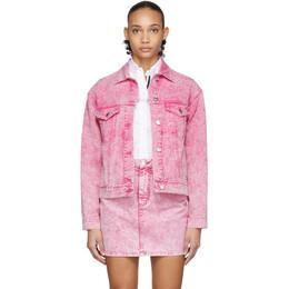 MSGM Pink Washed Denim Jacket 2841MDH43T 207272