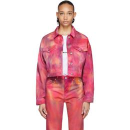 MSGM Pink Denim Tie-Dye Jacket 2841MDH47T 207239