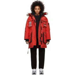 Canada Goose Red Down Snow Mantra Parka 9501L