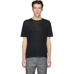 Etro Black Linen T-Shirt 1y020 9247