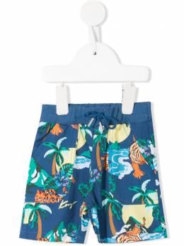 Kenzo Kids шорты с принтом KN2550747
