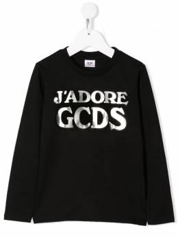 GCDS Kids толстовка с логотипом 020536