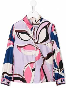 Emilio Pucci Junior рубашка с графичным принтом 9M5000MD780