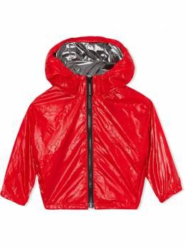 Burberry Kids куртка на молнии с капюшоном и логотипом 8025287