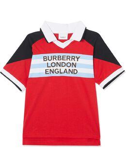 Burberry Kids рубашка-поло с логотипом 8025300