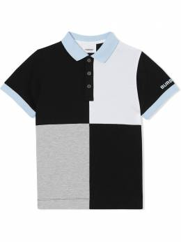 Burberry Kids рубашка-поло в стиле колор-блок 8022651
