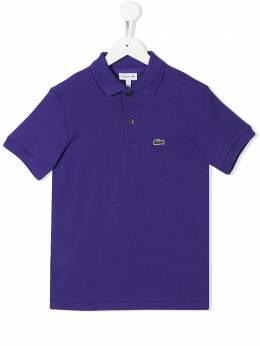 Lacoste Kids рубашка-поло с вышитым логотипом PJ2909