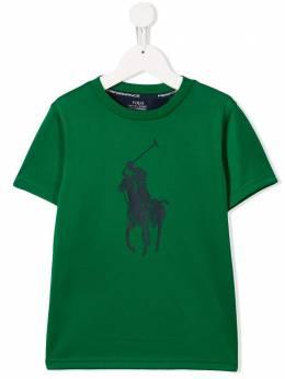 Ralph Lauren Kids футболка с вышитым логотипом 702745010