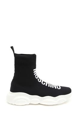 Кроссовки-носки черного цвета Moschino Kids 3128173571