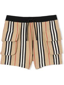 Burberry Kids шорты в полоску Icon Stripe с кулиской 8022056