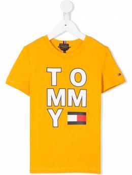 Tommy Hilfiger Junior футболка с круглым вырезом и логотипом KB0KB05428