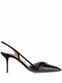 Aquazzura туфли с тиснением под кожу крокодила SALMIDP0SCD000