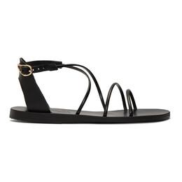 Ancient Greek Sandals Black Meloivia Sandals MELOIVIA - VAC/SYN