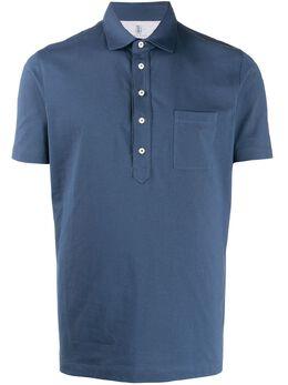 Brunello Cucinelli однотонная рубашка-поло M0T613946C9364