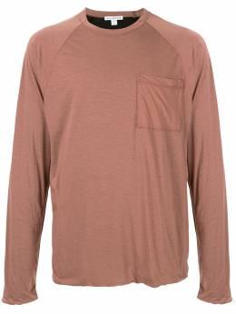 James Perse футболка с длинными рукавами и карманом MZEK3336