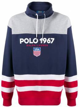 Polo Ralph Lauren толстовка в стиле колор-блок с логотипом 710781180