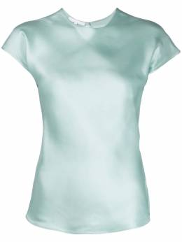 Helmut Lang атласная футболка I05HW518