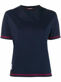 Thom Browne футболка с разрезами по бокам FJS049A01454