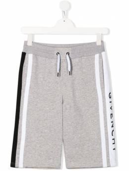 Givenchy Kids шорты из джерси с логотипом H24079A01