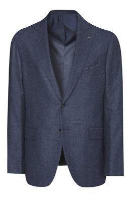 Синий костюм из шерсти в клетку Lardini 2453175084