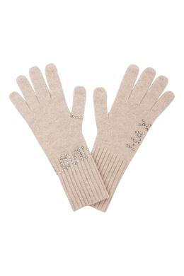 Светло-бежевые перчатки, декорированные металлическими узорами Max & Moi 2919174616