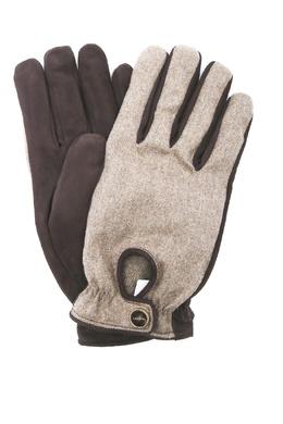 Коричневые перчатки из шерсти и замши Lardini 2453175094