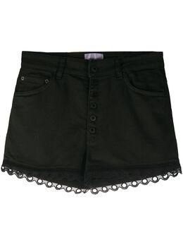 Dondup джинсовые шорты с фестонами DP277BS0009PTDW