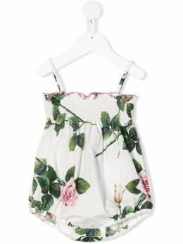 Dolce & Gabbana Kids боди с цветочным принтом L21O70HS5GG