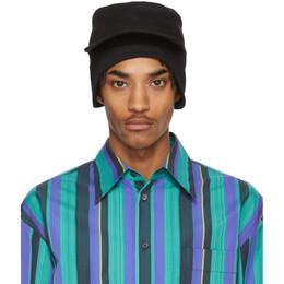 Marni Black Gabardine Workwear Cap CLZC0036S0 S52545