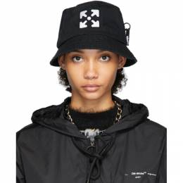 Off-White Black Logo Bucket Hat OMLA010R204000201001