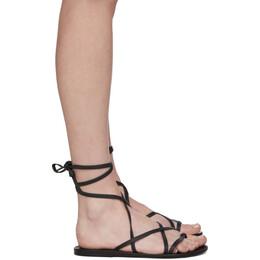 Ancient Greek Sandals Black Morfi Sandals MORFI - NAPPA