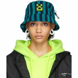 Off-White Blue Towel Bucket Hat OMLA010R20G520013900