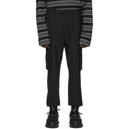 Juun.J Black Wool Cargo Pants JC0221P315