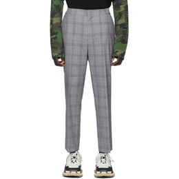 Juun.J Black Check Wool Trousers JC0221P015