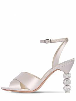 85mm Natalia Satin Sandals Sophia Webster 71II7Q004-U09GVCBJVk9SWQ2