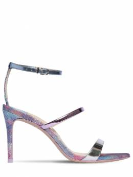 85mm Rosalind Patent Leather Sandals Sophia Webster 71II7Q006-TUVSTUFJRCBHTElUVEVS0