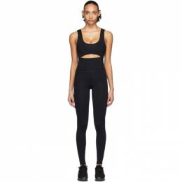 Live The Process Black Cut-Out Leggings Bodysuit 103 A1