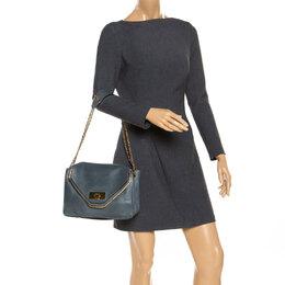 Chloe Grey Leather Medium Sally Flap Shoulder Bag 253952