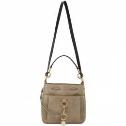 See By Chloe Grey Large Suede Tony Bucket Bag CHS19USA06566