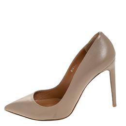 Ralph Lauren Beige Leather Pointed Toe Pumps Size 40 255716