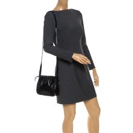 Bally Black Leather Drawstring Crossbody Bag 253552