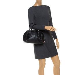 Prada Black Leather Bauletto Bag 253399