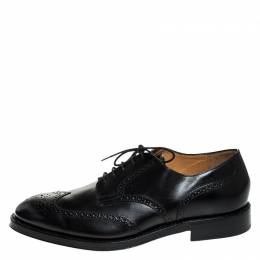Tod's Black Brogue Leather Lace Up Oxfords Size 47 Tod's