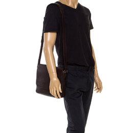 Louis Vuitton Brown Taiga Leather Roman PM Bag 253175