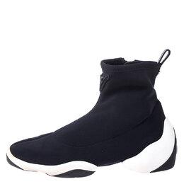 Giuseppe Zanotti Design Black/White Neoprene Light Jump Ht1 Sneakers Size 37 255345